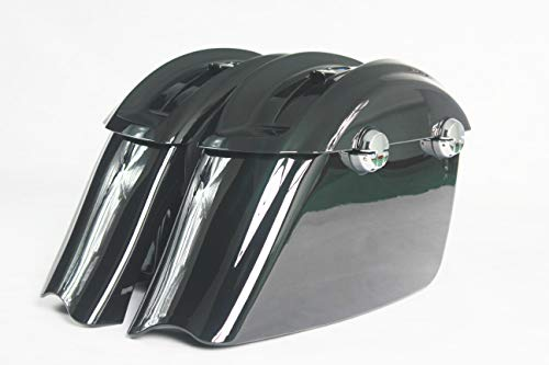 Amazing Deal VIVID/GLOSS BLACK SADDLEBAGS WITH LATCH ASSEMBLED FOR INDIAN CHIEFTAIN DARK HORSE 2016-...