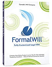 FormalWill™ Fully Customized Canadian Legal Will Kit 2021 - (Software Key) - Includes Instructions