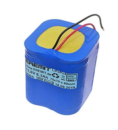 EREMIT LiFePo4 Akku Batterie 12V 6Ah Lithium Eisen wie Blei Bleiakku Solar Speicher 41 (LiFePo4 12V 6Ah)