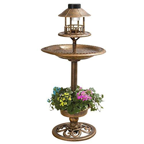 Parkland - Fuente solar para pájaros, color bronce
