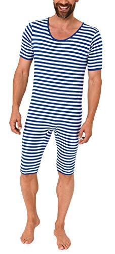 NORMANN Wasmachine, heren of dames, carnaval, unisex, eendelig carnavalskostuum, geringeld 64282, maat 2:M, kleur: blauw/wit
