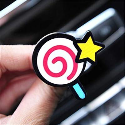 HONGTAI Ornements Voiture Mignon climatisation Évents Parfum Clip Désodorisant Auto Décoration Accessoires Creative Parfums (Color : Lollipop)