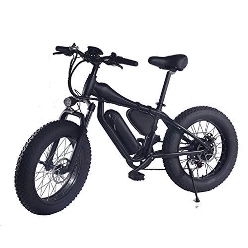 sunyu 20 Pulgadas Bicicleta eléctrica 350W 48V10AH Pliegue Bicicleta asistida Neumático Gordo Marco de aleación de aluminioblack