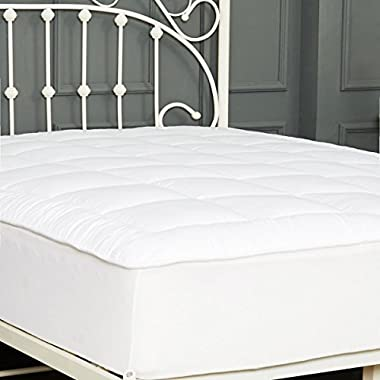 Queen Size Mattress Pad Quilted Plush Hypoallergenic Down Alternative Pillow Top Mattress Cover with Deep Pocket