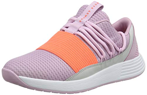 Under Armour Women's Breathe Lace NM2 Sneaker, Pink Fog (600)/Gray Flux, 11