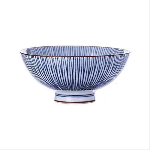 GJDBBLY Bowl Japans Blauw En Wit Porselein Servies Thuis Keramische Bowl Kenmerken Restaurant Ramen Bowl Voedsel Container