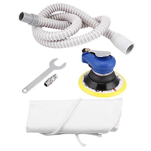 Lijadora orbital aleatoria de Air Palm, kit de pulidora de pulido neumático, herramienta de lijado manual de 9000 RPM(Normal-6 Inch)