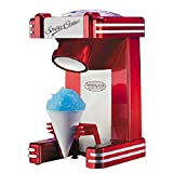 Household Ice Crusher Electric Ice Shaver Machine Snow Cone, Crushed Ice,Cocktail Maker 40W,Red
