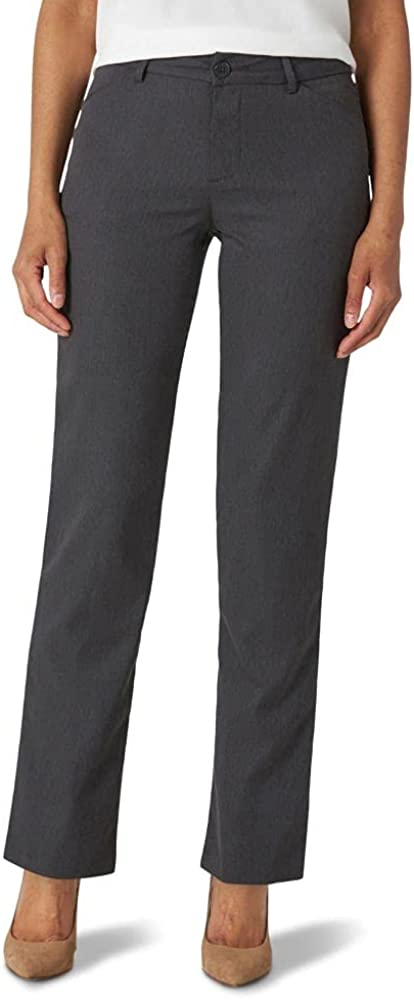 Lee womens Petite Wrinkle Free Relaxed Fit Straight Leg Pant