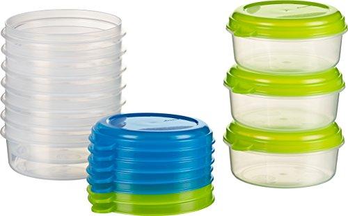 Kigima Frischhaltedose Gefrierbehälter 10x 0,25l rund blau und grün