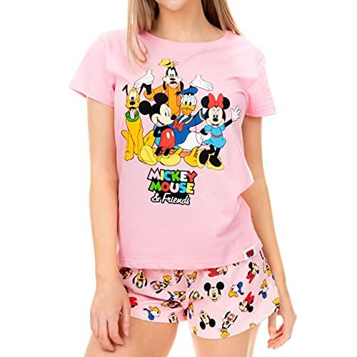 Disney Pijama para Mujer Mickey Mouse Minnie Mouse y y Amigos Rosa Medium