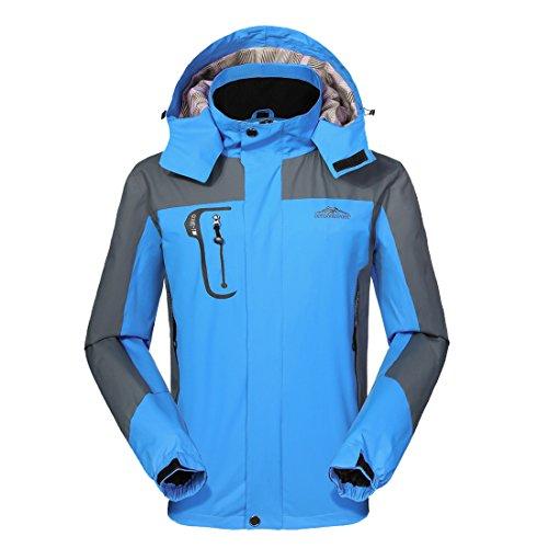 Women Men Waterproof Jacket Raincoats Outdoor Hooded Lightweight Softshell Hiking Rain Jackets,...