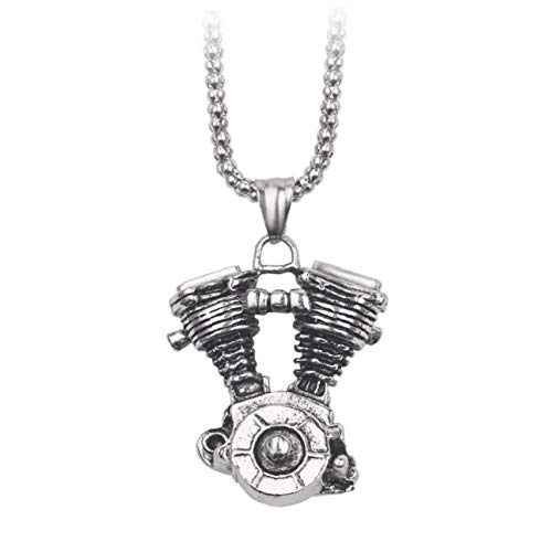 Casecover Halskette Design Punk Herren-Halskette Steampunk Motor Motorrad-anhänger-Halskette Biker Kette Gothic Geschenke Für Männer Für Motorrad Schmuck Dekoration