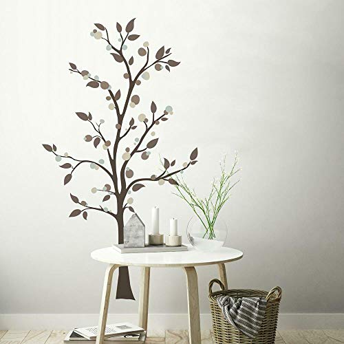 RoomMates Mod Tree Peel And Stick Giant Wall Decals - RMK2365GM,Multicolor,Medium