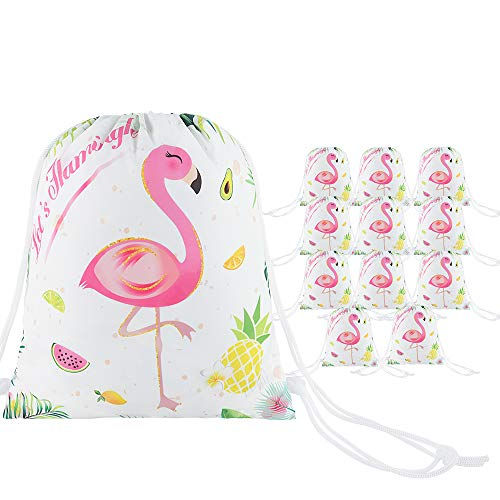 WERNNSAI Flamingo Party Gift Bag - 12 Pack Party favour Bags with...