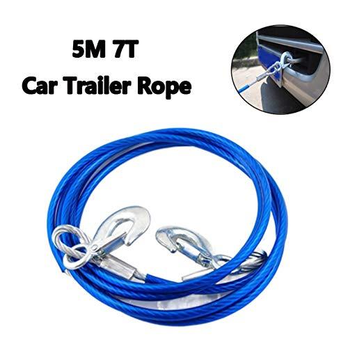 Cable de la línea del cabrestante cuerda Alambre de acero de la cuerda del remolque del coche de acero del gancho de acero de 5m 7T 7T para remolque de la cuerda de remolque de remolque con cinturón d