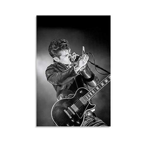 LOPOA Arctic Monkeys Alex Turner - Poster decorativo da parete per soggiorno, camera da letto, 30 x 45 cm