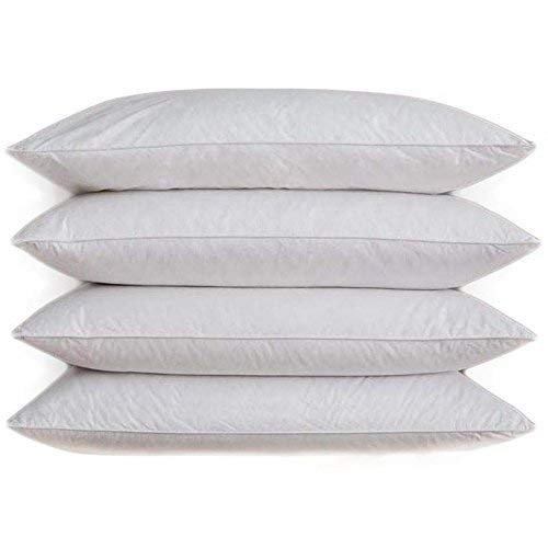 Home & Bath Co. 4 x Cushion Pad Inner Insert New White Duck Feather 100% Natural Cotton Cover 18' x 18' (45cm x 45cm)