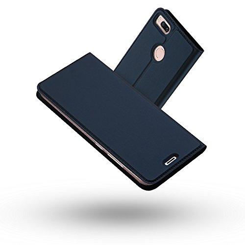 Radoo Xiaomi Mi 5X/ Mi A1 Hülle, Premium PU Leder Handyhülle Brieftasche-stil Magnetisch Folio Flip Klapphülle Etui Brieftasche Hülle Schutzhülle Tasche Case Cover für Xiaomi Mi 5X/Xiaomi Mi A1 (Blau)