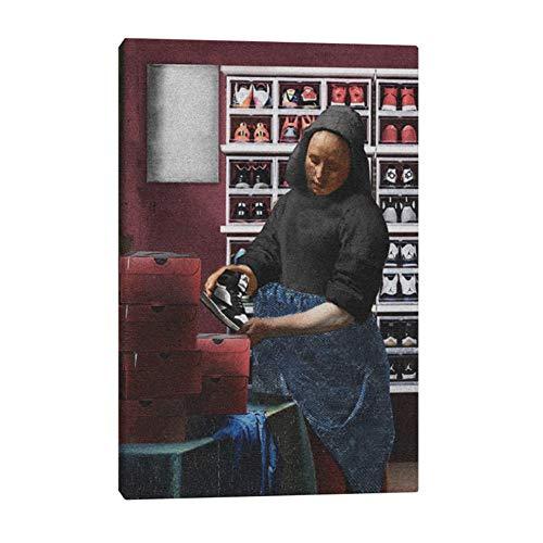 Sneakers mode Klassieke kunst Schilderij muur Canvas voor woonkamer thuis slaapkamer studie slaapzaal decoratie prints -50x75cm Geen frame