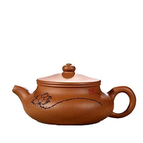 ZJN-JN Conjunto Tetera Wang Tetera Antigua Tetera de Barro Segmento Vaso de Agua Mineral de auténtico té Tallado a Mano La decoración del hogar Actual