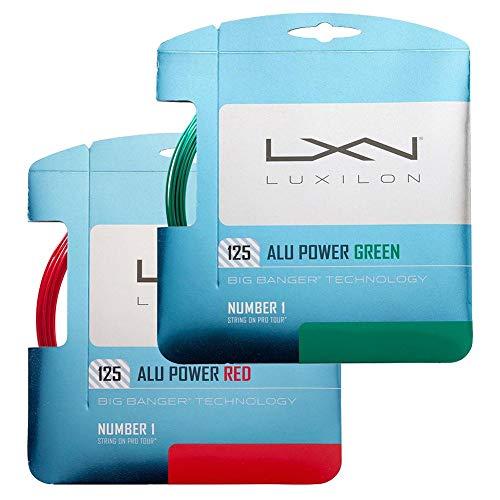 Luxilon Unisex Tennissaite Alu Power 125 Limited Editon, rot, 12,2 Meter, 1,25 mm, WRZ990250