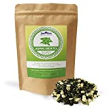 Sou Zen Jasmine Green Tea Loose Leaf Blend 4oz (113g) | Premium Quality Tea Leaves and Flowers | Raw with Naturally Organic Antioxidants | Relaxing and Revitalizing Tea with No Additives