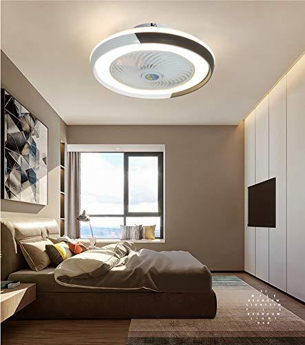 Deckenventilator mit Beleuchtung, Fan Deckenventilator LED Licht, Einstellbare Windgeschwindigkeit, Dimmbar mit Fernbedienung, 60W Moderne led Deckenlampe für Schlafzimmer Wohnzimmer Esszimmer,Schwarz