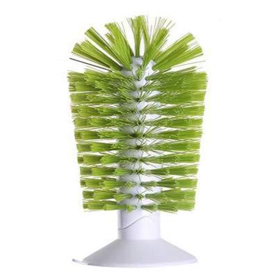 XKMY Cepillo de limpieza para fregadero, con aspiración, vasos, vasos, limpiador, succión fuerte, uso perezoso, cepillo limpio para taza (color: verde)