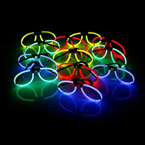 2 leuchtende Knicklicht-Brillen inkl. 24 Arm-Knicklichtern KNIXS im Farbmix   geprüfte Markenqualität