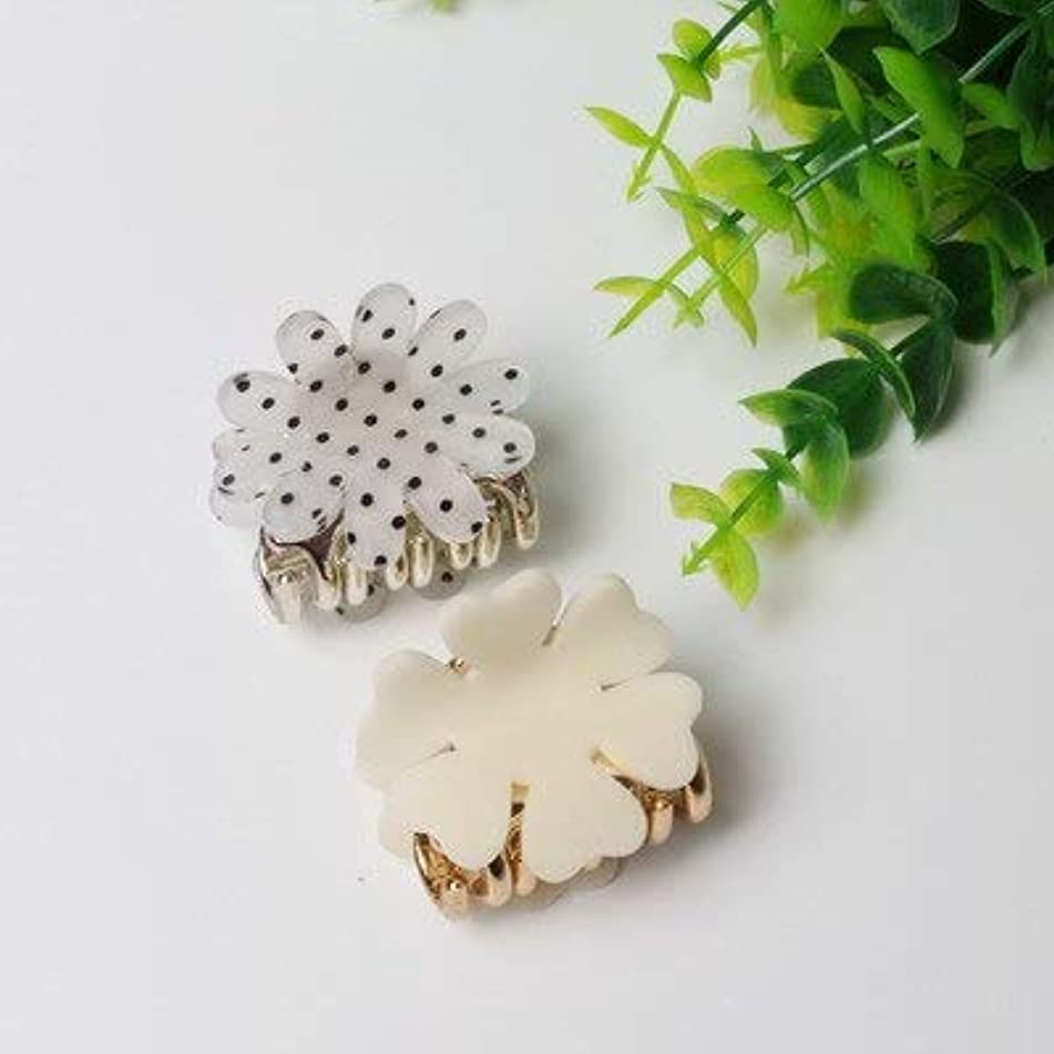 Crystal Hair Clips For Ladies - 4cm Chrysanthemum Acrylic Hair Claws Simple Strong Crab Hair Clips Clamp Hairpin Decoration Holder Headwear For Women Girl