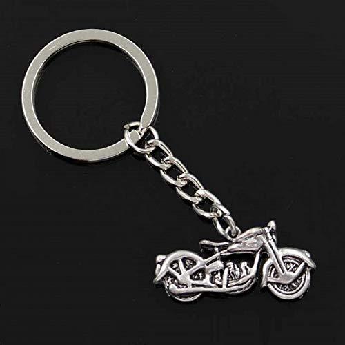 QWEDFG Mode Männer 30Mm Schlüsselbund Metallhalter Kette Motorrad 34X16Mm Anhänger Geschenk