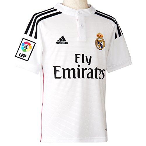 adidas Real Madrid C.F. 2014/2015 Local - Camiseta para niño,  color Blanco, talla 13-14 Años