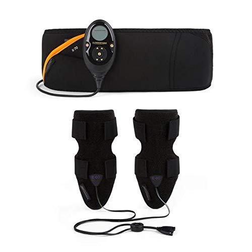 Slendertone Pack Cinturón Abs7 y brazaletes tonificantes para Mujer Abdominal Electroestimulacion, Women's, Negro, 69-119cm, 27-47cm