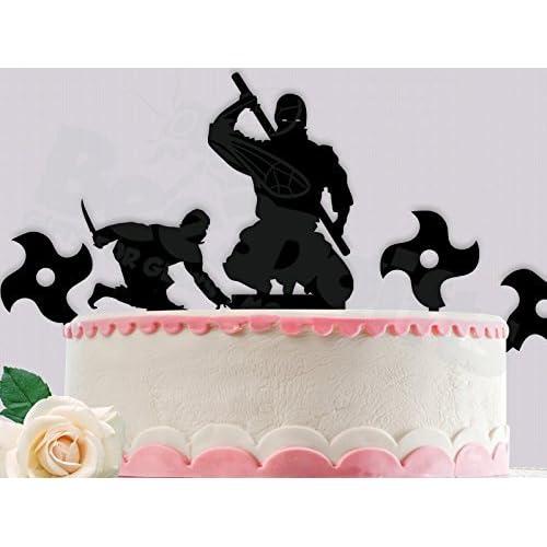 Peachy Amazon Com Ninja Birthday Cake Topper Comes With All Ninjas And Birthday Cards Printable Inklcafe Filternl