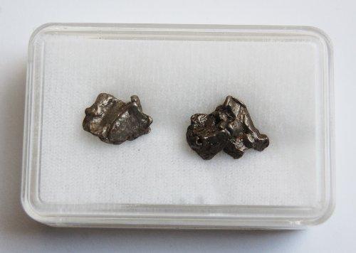 Unbekannt Geschenk-Set mit Zwei Meteoriten, incl. Zertifikat