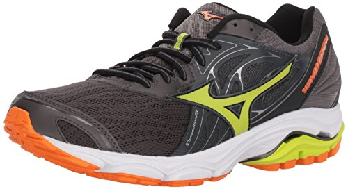 Mizuno Men's Wave Inspire 14 Running Shoe, Magnet/Lime Punch, 11