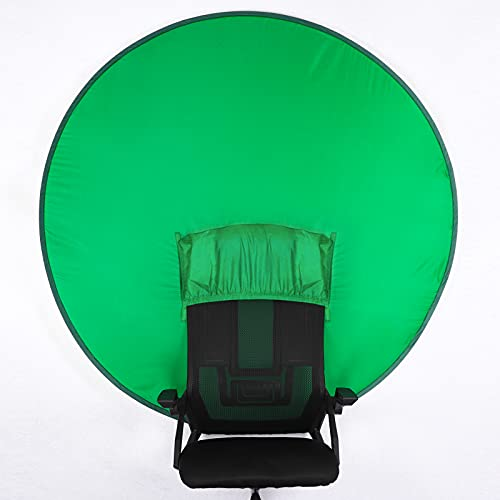 """SSYAQRA Portable Webcam Background - 56"""" Collapsible & Portable Green Screen for Photo Video Studio Collapsible Background Chromakey Green Screen Chair"""