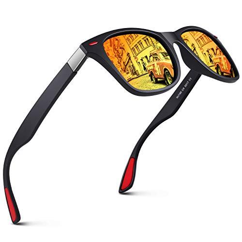 GQUEEN Gafas de Sol polarizadas hombre Mujere TR90 para Conducir Deportes Ciclismo 100% Protección UV400 Gafas para Conducción MO90
