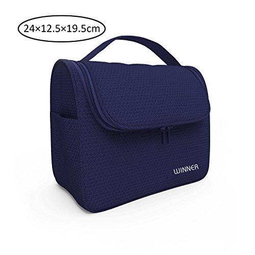 DoubleVillages-Beauty Case da Viaggio /Uomo Beauty Case Donna / Borsetta da Viaggio Organizzatore Borsa da Toilette/ Portatrucchi make up Borsa Trucco di Caso Cosmetico Borsa /Cosmetici borsa / Cosmetico Sacchetto / Wash Bag borsa /lavaggio borsa-Impermeabile-blu