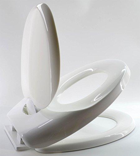 Duroplast Toilettendeckel mit Kindersitz Absenkautomatik WC Sitz Brille Kinder Familie Klobrille Toilettensitz Lerntoilette