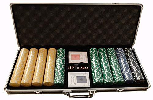 Set Poker Valigetta Completo 500 Fiches 11,5 Grammi Texas Hold'em