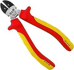 S&R Alicate corte lateral electricista 160mm VDE-series 1000 V, acero de cromo-vanadio fosfatado, punta redondeada