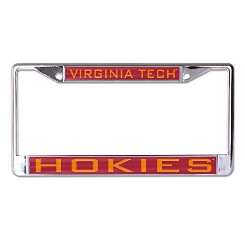 Wincraft NCAA Virginia Tech Hokies Inlaid Metal License Plate Frame, 2-Tag Corners