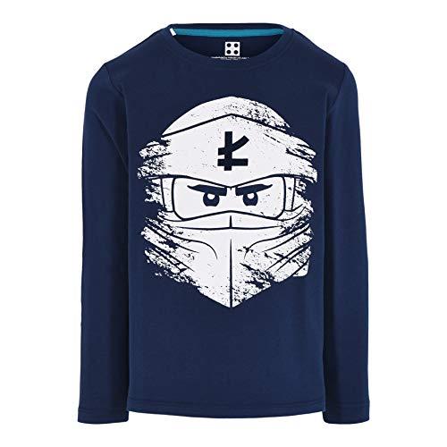 LEGO Jungen MW-Langarmshirt Ninjago T-Shirt, 590 Dark Navy, 116