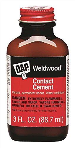 DAP 00107 Weldwood Original Contact Cement, 3 oz