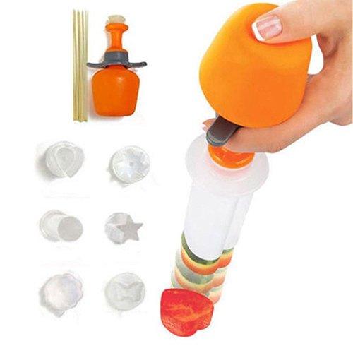 Pengyu 6 formas de torta de fruta de la fruta moldeadora de alimentos decorador cortador herramienta de cocina con pinchos