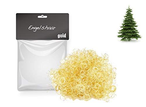 TK Gruppe Timo Klingler Engelshaar 15 gr. gelockt Lametta Gold für Weihnachten Advent Deko Dekoration (Gold)