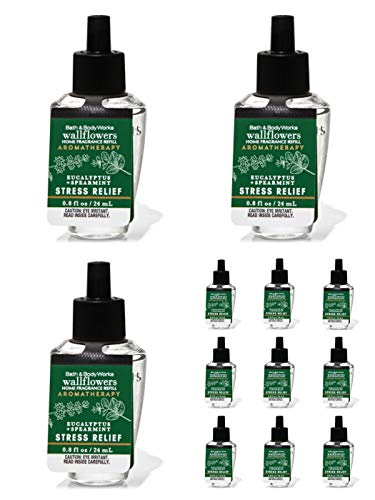 Bath & Body Works Eucalyptus Spearmint Wallflowers Aromatherapy Refills (12-Bulbs)