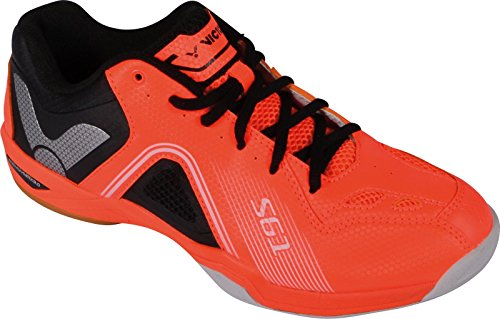 VICTOR SH-S61 Badmintonschuh / Indoor Sportschuh / Squashschuh / Hallenschuh, orange - Gr. 40,5